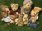 Boyds Bears Plush Lot of 10 - Good Condition - Includes One (1) Bear Stand
