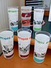 6 tall ice tea  water mixed drink Antique Auto glasses tumblers patio barware