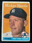 1958 TOPPS BASEBALL CARD MICKEY MANTLE #150 BV $1,000