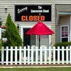 Vinyl Banner Sign Sorry The Stand Is Closed Restaurant Cafe Sorry Outdoor White