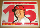 2015 Topps Limited Edition 10x14 Mike Trout All-Star Game MVP Wall Art 22 25