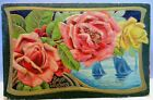 1909 POSTCARD BEST WISHES ROSES AND SAILBOATS