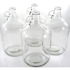 CLEAR ONE GALLON GLASS JUG 4 CASE with CapsLids Fermenter