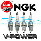 4 NGK V POWER SPARK PLUGS for JEEP TJ 1997 2002 25L L4 HIGH QUALITY NEW 3459