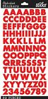 Sticko Scrapbooking Crafts Stickers Red Futura Alphabet Numbers Letters