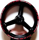 RED WHITE GP STYLE CUSTOM RIM STRIPES WHEEL DECALS TAPE STICKERS SUZUKI SV650S