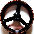 ORANGE DARK GP STYLE CUSTOM RIM STRIPES WHEEL DECALS TAPE STICKERS SUZUKI SV650S