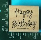 HAPPY BIRTHDAY Saying Rubber Stamp by STAMPIN UP