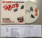 BOY GEORGE Taboo RARE WITHDRAWN MIPSRESSED 5-TR PROMO CARDSLEEVE CD Culture Club