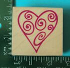 SWIRL HEART Rubber Stamp by Rubber Stampede