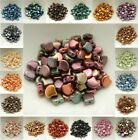 Ginko 35 Beads Choose Color 75mm x 75mm 2 hole Czech Glass by Matubo