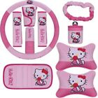 10pcsset Cute Hello Kitty Car Accessories Seat Interior For Woman Pink Cartoon