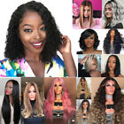 Curly Wavy Brazilian Remy Human Hair Wave No Lace Front Hair Wigs 15 Style US