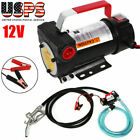 DC 12V Electric Fuel Transfer Pump Diesel Kerosene Oil Commercial Auto Portable