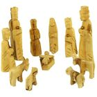 Olive Wood Childrens Nativity Set 12 Pieces Set 5 Inches
