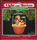 1988 Hallmark On With the Show Santa and Sparky Lighted Ornament NIB NEW