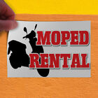 Decal Sticker Moped Rental Business Business Moped Rental Outdoor Store Sign