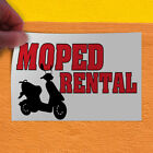 Decal Sticker Moped Rental Business Rental Outdoor Store Sign White