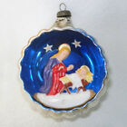 Italy Madonna Child Nativity Diorama Indent Christmas Ornament