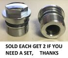 TOP CHROME FORK TUBE BOLT CAP WITH ORING CB750K0 CB450 CB550 XL350 CR250M 1002Z
