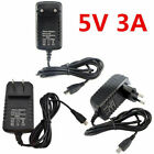 3A 5V Micro USB AC Adapter DC Wall Power Supply Charger for Raspberry Pi Switch