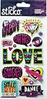 Sticko Girl Scrapbooking Foil Sparkle Stickers Words Icons Smile Sweet Love