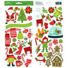 Pebbles Christmas Scrapbooking Holly Jolly Stickers Santa Stocking Candy Cane