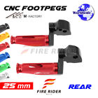 For Ducati Monster 1000 /ie All Year 25mm Riser CNC Billet Rear Footpegs