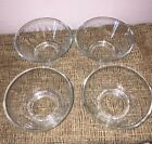 LOT, Set Of Four Clear Glass Footed Dessert/Sherbet/Pudding/Bowls/Dishes
