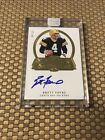 2017 FLAWLESS BRETT FAVRE GOLD PENMANSHIP SSP 4 10 JERSEY # ON CARD AUTO PACKERS