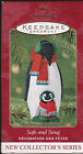 2001 Hallmark  Safe and Snug Series Mama & Baby Penguin Ornament Dated NIB NEW