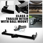 CLASS 3 TRAILER HITCH TUBE w 2 LOADED BALL BUMPER TOW V2 97 06 JEEP WRANGLER TJ