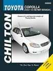 Repair Manual fits 2003-2009 Toyota Corolla  CHILTON BOOK COMPANY