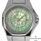 $695 OFFICINA DEL TEMPO MADE IN ITALY MOP/DATE STAINLESS STEEL WATCH~RARE/1 LEFT