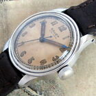 Mens Gruen 1940s Veri-Thin WWII Guildite Stainless Steel 15j Military Dial Watch