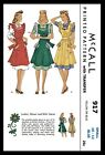 Mccall 917 Bib Apron Fabric Sewing Pattern Vintage 1940s Small Or Medium Copy