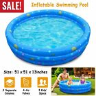 48 90 Inflatable Swimming Pool Blow Up Large Family Pool Foldable for Backyard