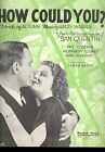 SAN QUENTIN SheetMusic How Could You Humphrey Bogart Ann Sheridan Pat OBrien