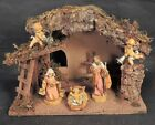 FONTANINI NATIVITY SCENEFIGURES + STABLE EUC 5 figures