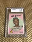 1959 TOPPS #514 BOB GIBSON ROOKIE BASEBALL CARD NICELY CENTERED BVG 5.5 EX+