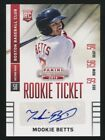 2014 Panini Contenders Auto Rookie Ticket Mookie Betts Red Sox MVP World Series