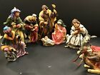 OWell Vintage Porcelain Hand Painted Christmas Nativity Set Beautiful And Rare