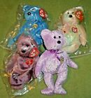 Lot 4 Ty Beanie Babies Bears with Tags- Celebrate- Decade- Signature- Classy