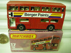 MATCHBOX MB17B BERGER PAINTS BUS BROWN BASE DotDash Whls +AXLE Braces MintBoxed
