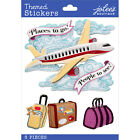 Jolees Airplane Flight Vacation Travel Dimensional Scrapbook Stickers