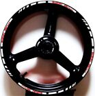 WHITE RED GP STYLE CUSTOM RIM STRIPES WHEEL DECALS TAPE STICKERS SUZUKI SV650