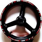 RED WHITE GP STYLE CUSTOM RIM STRIPES WHEEL DECALS TAPE STICKERS SUZUKI SV650