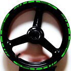LIME GREEN GP STYLE CUSTOM RIM STRIPES WHEEL DECALS TAPE STICKERS Kawasaki Ninja