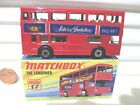 Lesney Matchbox MB17B 1977 The Londoner Red SILVER JUBILEE 1952 1977 Bus NuBxd