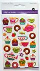 Multicraft Coffee Deserts Puffy Scrapbook Dimensional Stickers Donuts Cupcakes
